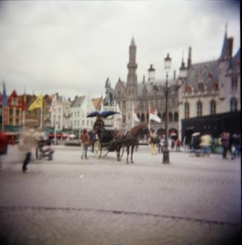 Bruges horse& cart