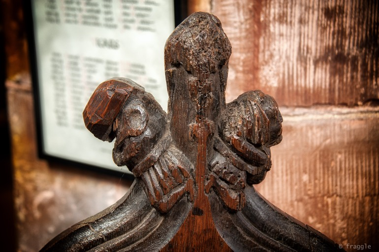Mediaeval pew carving, an original from 1300's.