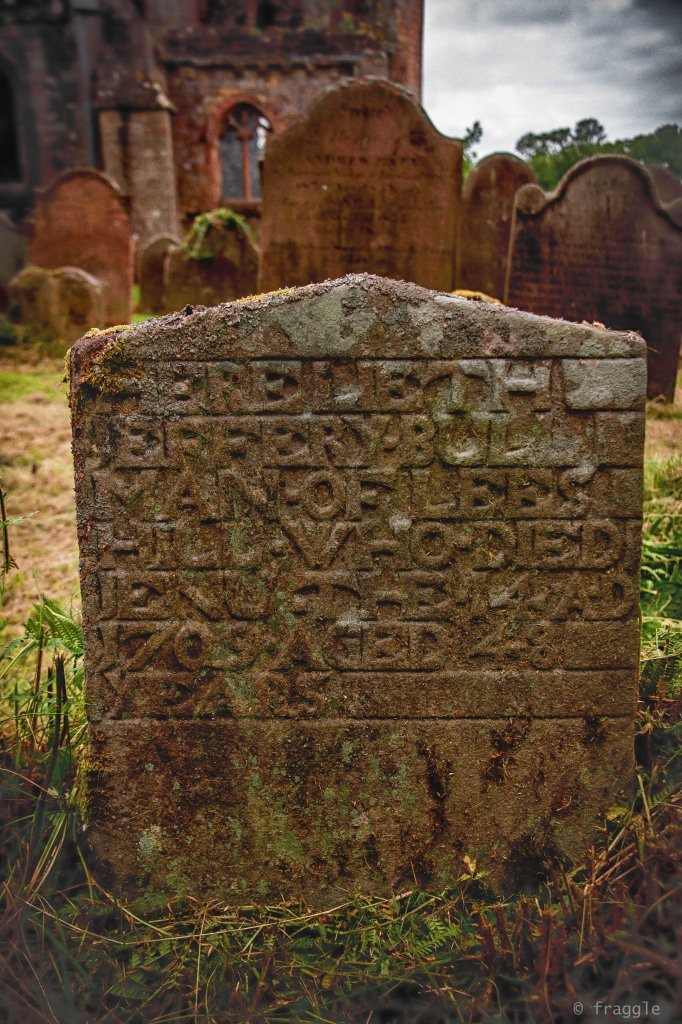 Jeffery Bull~Man of Lees, died  AD1709, aged 48