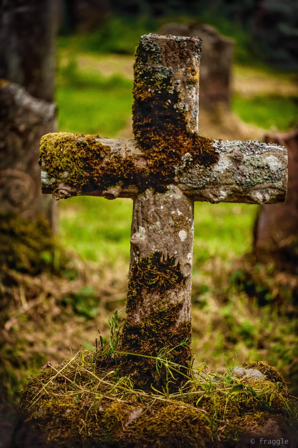 The Cross with the moss.