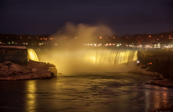 Night lights at the Falls