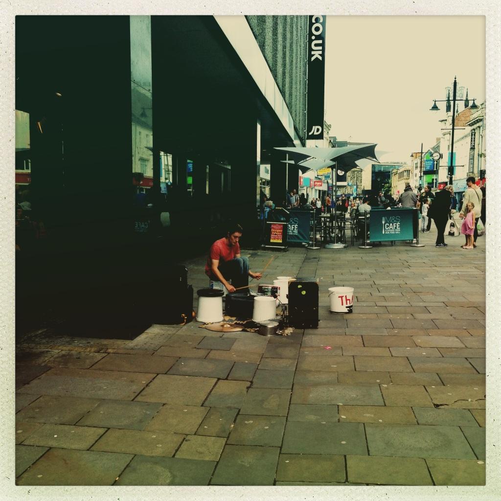paint pot drummer