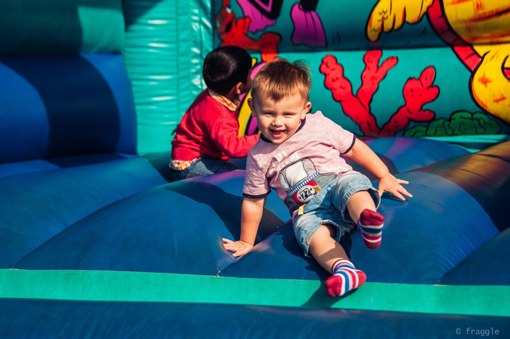 happyness is a bouncy castle
