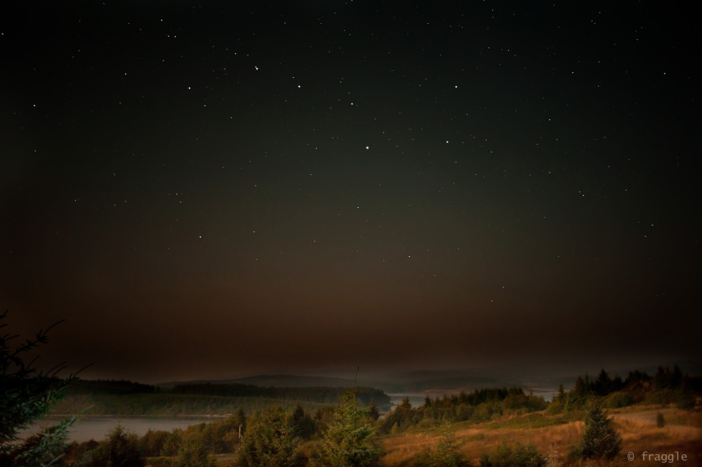 Ursa Major (The Plough/Big Dipper/Great Bear) over Keilder Water