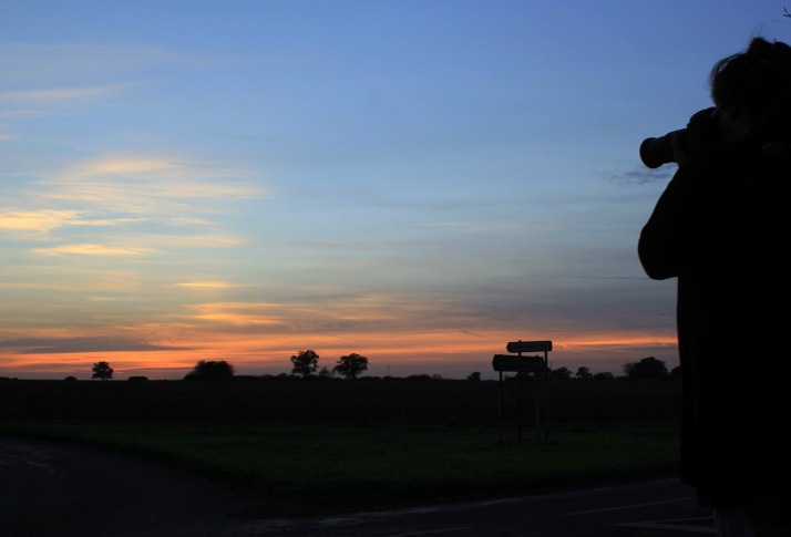 me shooting the sunset~by Helen