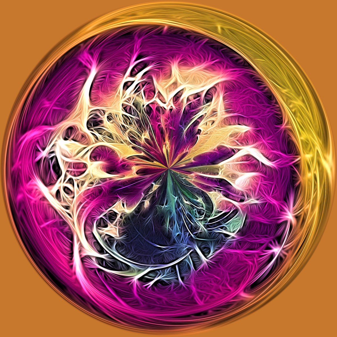 Fraggled Flowers Orb