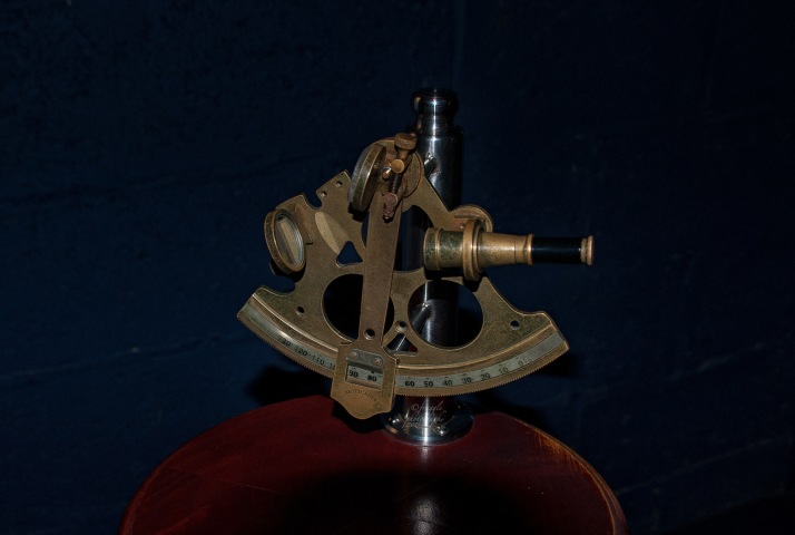 Inside one of the info rooms, a sextant methinks.