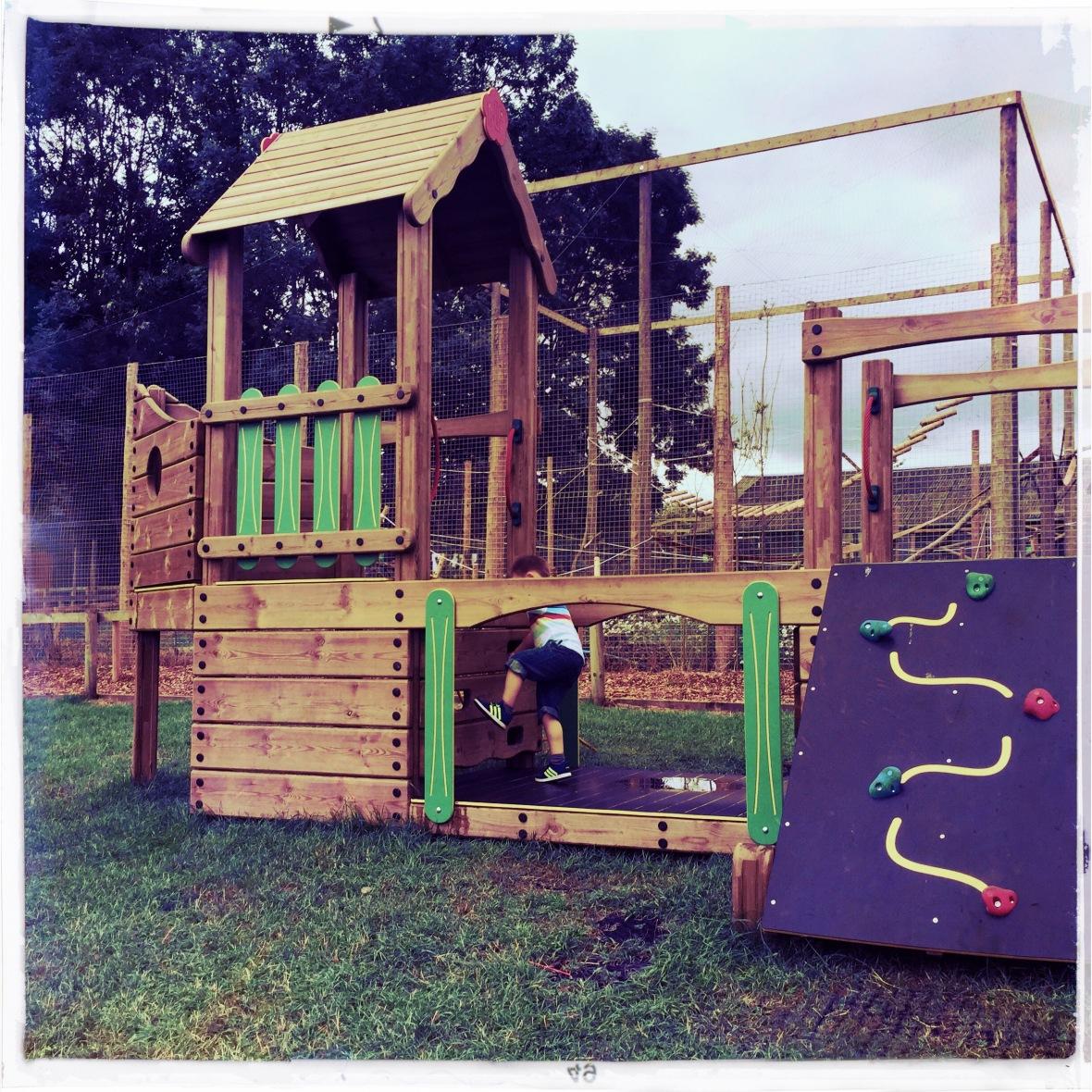 climbing frame & Cal (hipstamatic)