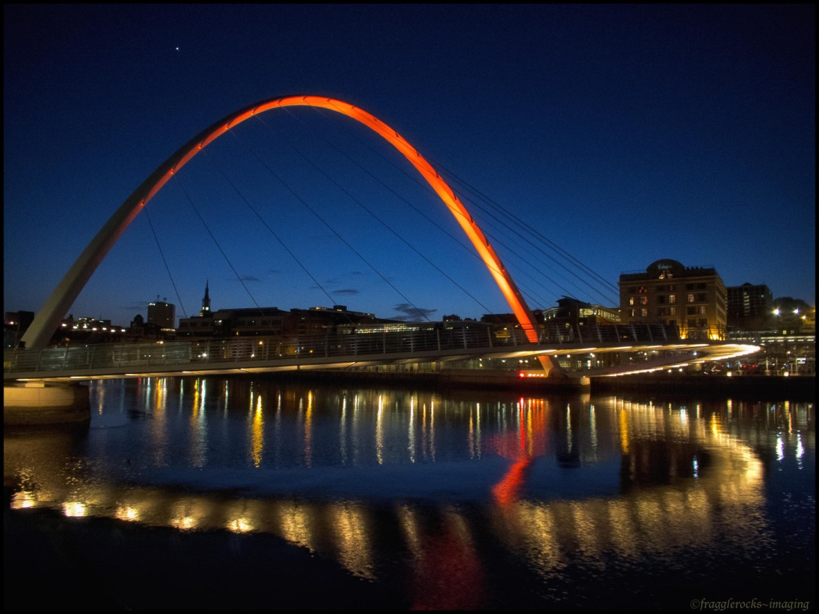 Millenium Bridge at night