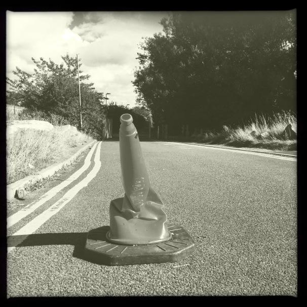 crumpled cone