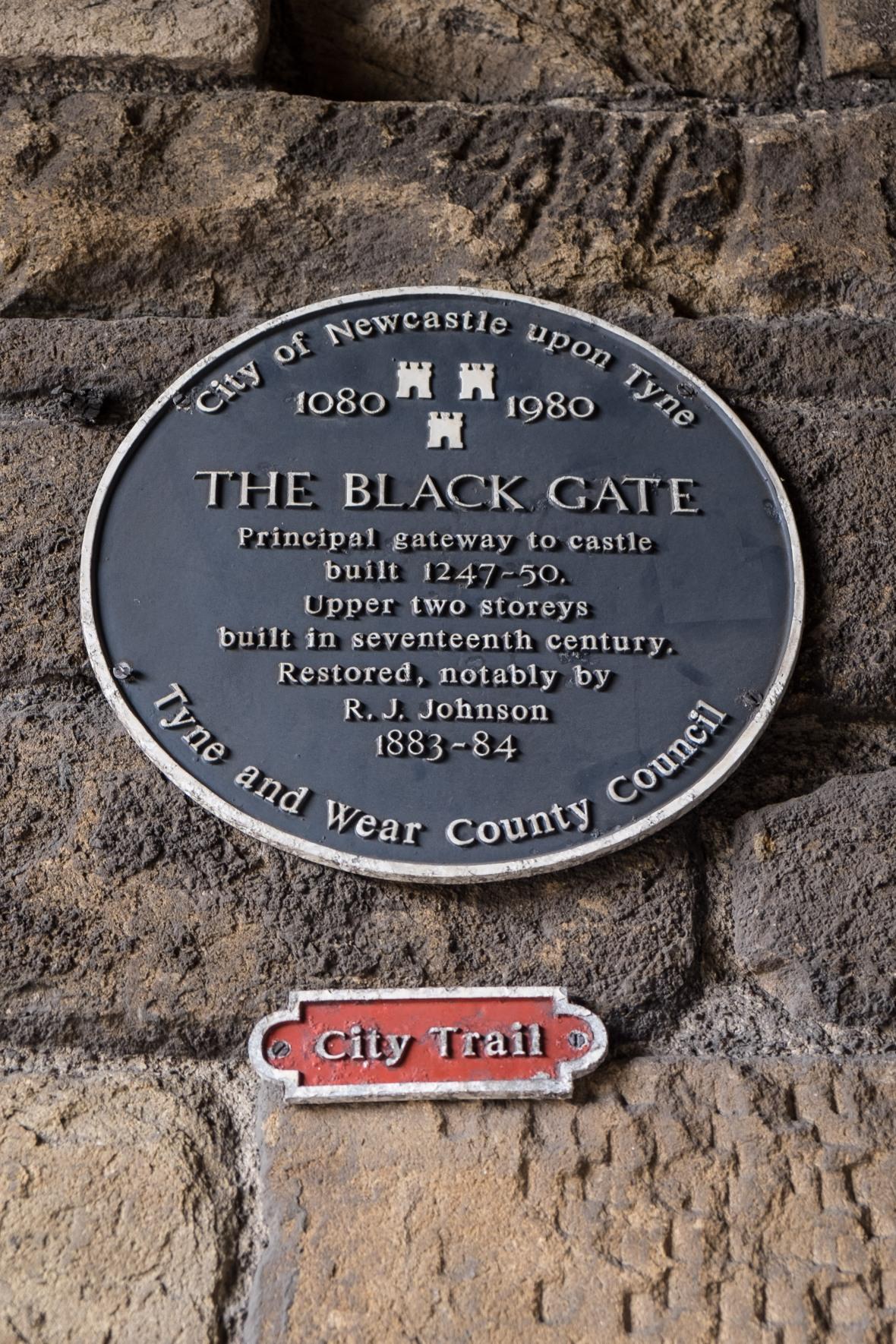 The Black Gate plaque