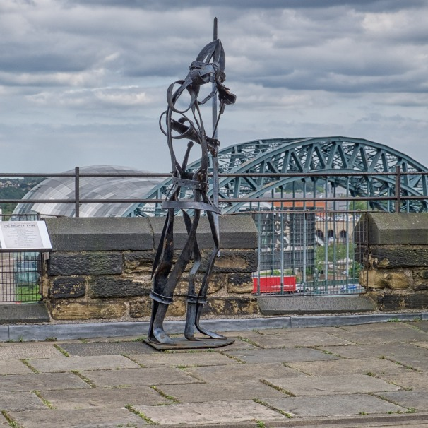 Defender of the Keep, and Tyne Bridge & Sage in the distance.
