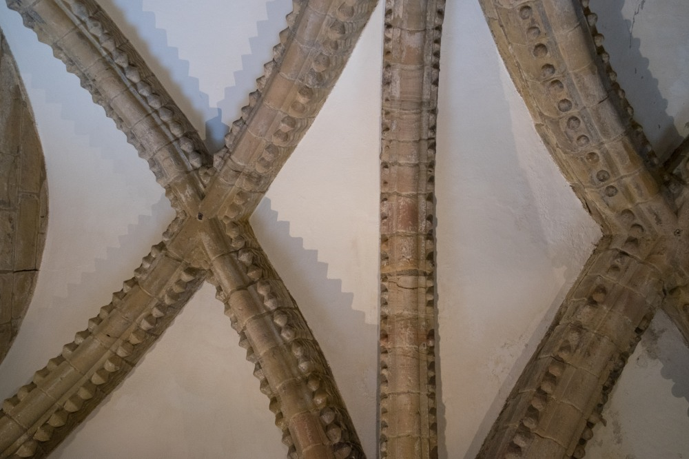Norman stone carving, ceiling