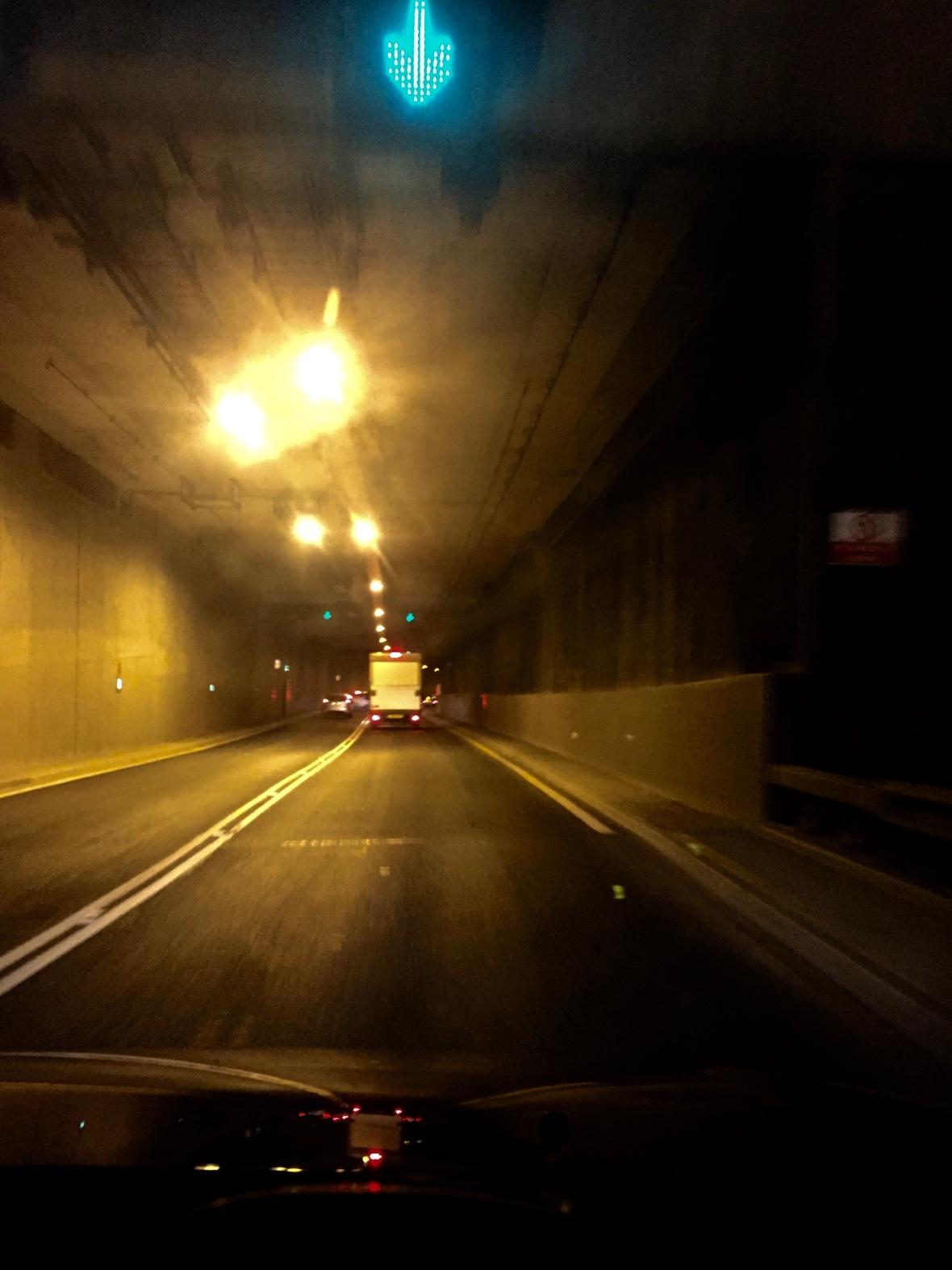 Through the Tyne Tunnel