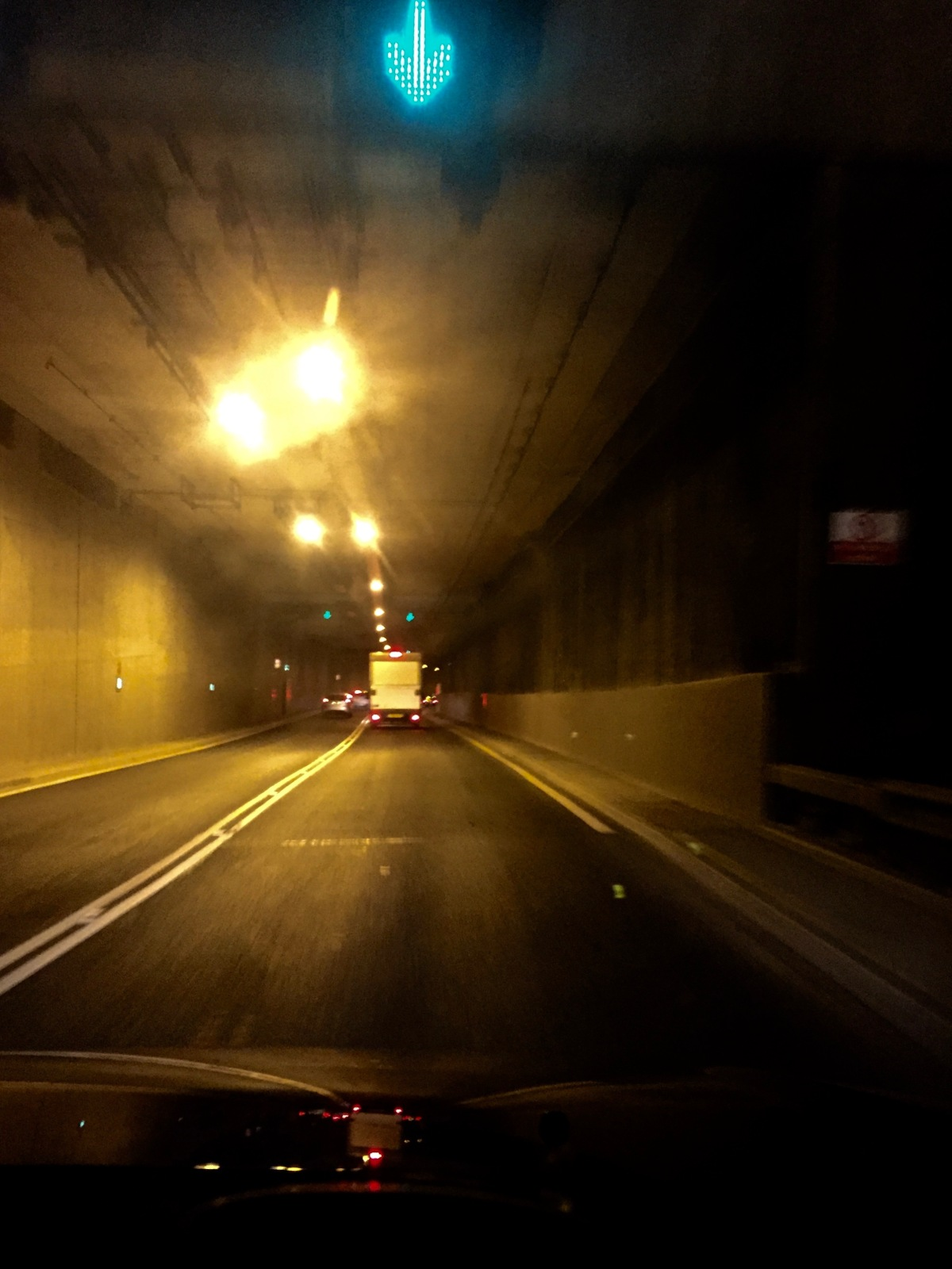 Through the Tyne Tunnel