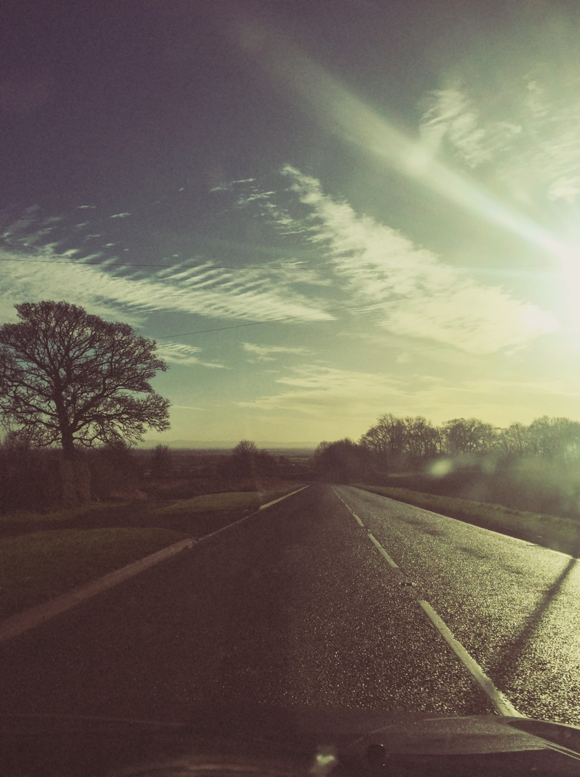 on the way back to the A1