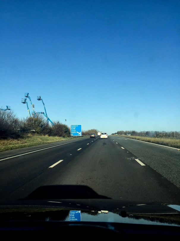 Blue monsters on the A1