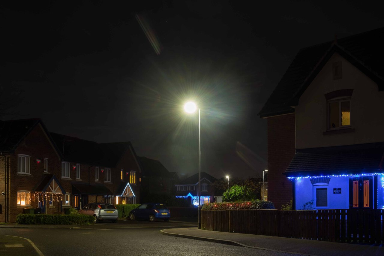 Christmas and Street lights